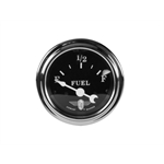 Stewart Warner Individual Fuel Level Gauge Black Face