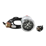 Stewart Warner Wings Mechanical Water Temp Gauge Black Face