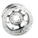 Basset 58D51ICL 15X8 D-Hole 5 on 5 1 Inch IMCA Chrome Beadlock Wheel
