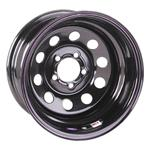 Black Circle Track Wheel 15x7 5 On 4.75