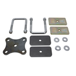 Front Spring U-Bolt / Clamp Plate Kit - Stainless U-Bolts