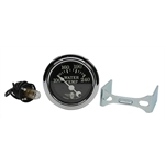 Stewart Warner Wings Electric Water Temp Gauge Black Face