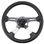Elite GT Model Steering Wheel 4-spoke Polished Aluminum