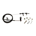 Lokar Black Stainless Steel Ford AOD Kickdown Cable Kit
