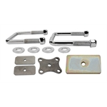 Front Spring U-Bolt & Clamp Plate Kit - Chrome U-Bolts