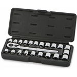 22 Piece 3/8 Inch Low Pro Socket Set
