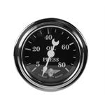 Stewart Warner Wings Mechanical Oil Pressure Gauge Black Face