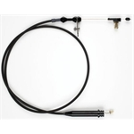 Lokar Black Stainless Steel TH350 Kickdown Cable Kit