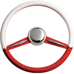 Two-Tone Wheel - Red & White