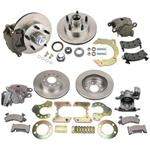 Front and Rear Brake Kit - Chevy Spindles