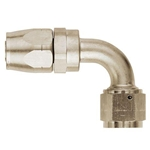 90 Degree AN8 Hose End Fitting Nickel