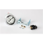 Stewart Warner Individual Boost Gauge White Face