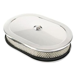 Oval Chrome Air Cleaner 12