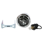 Stewart Warner Wings Electric Oil Pressure Gauge Black Face