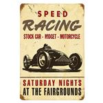 Vintage Metal Signs: Speed Racing