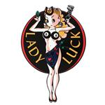 Lady Luck Aluminum Sign
