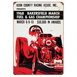 1968 Bakersfield - Metal Sign