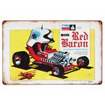 Big Red Baron - Metal Sign