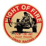 Night of Fire - Metal Sign