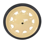 Pedal Car Steelcraft Artillary Wheel w/Tire, 7-1/2 Inch O.D., 7/16 Inch Axle
