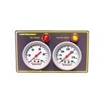 Accutech 2-Gauge Oil Pressure & Water Temp Gauge Panel