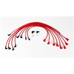 Taylor Cable 76239 8mm Solid Core Spark Plug Wires Under Headers, 90  , Red