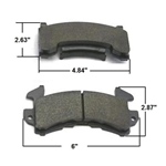 AFCO 1251-1154 D154 1978-Up GM Metric Pads