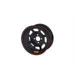 Bassett 57RT2 15X7 Dot D-Hole 4 on 4.5 2 Inch Backspace Black Wheel