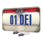 DEi 030302 LED Lite'N Boltz License Plate Lighting Kit, Satin Dome Head, 2 Piece