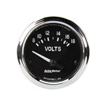 Auto Meter 201009 Cobra Voltmeter Gauge, Short Sweep Electric, 2 Inch