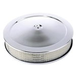 Chrome Deep Dish Performance Air Cleaner, 14 x 4 Inch, 4 Barrel Carb.
