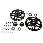 Winters Performance 3980 Black Aluminum D-Mount Front Hubs