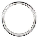 Stainless Steel 15 Inch Beauty Ring, Ribbed