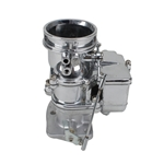 9 Super 7   Secondary 3-Bolt 2 Barrel Carburetor, Chrome Finish