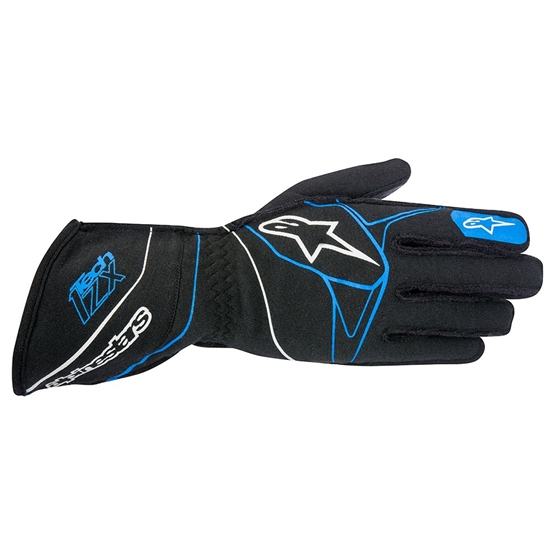 Alpinestars 3550316-17I-L  Tech 1-ZX Racing Gloves, Black/Blue, L