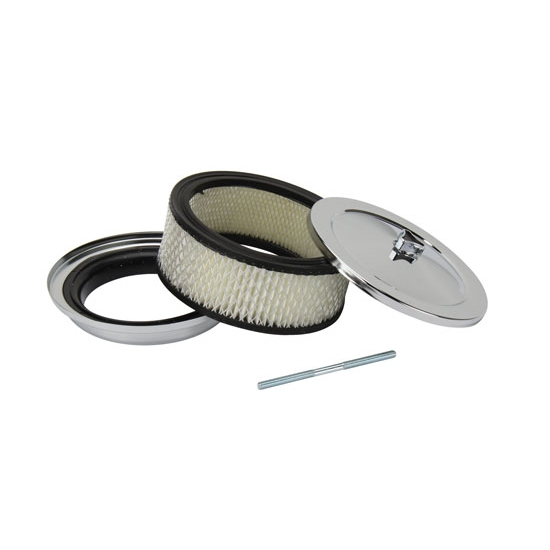 16 Inch Air Cleaner : Inch chrome air cleaner barrel carb