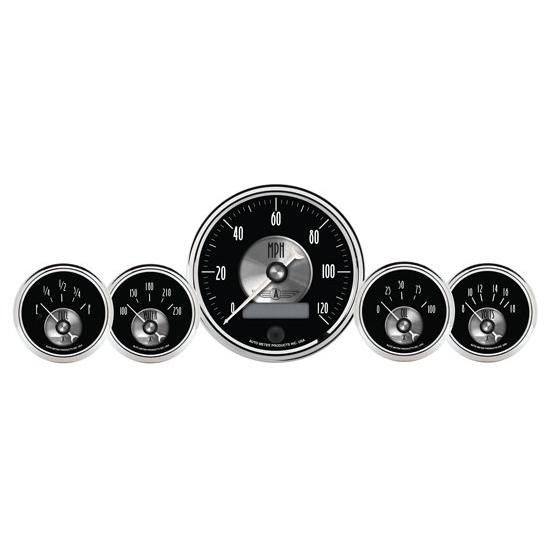Automotive Gauge Sets : Auto meter prestige black diamond piece gauge set