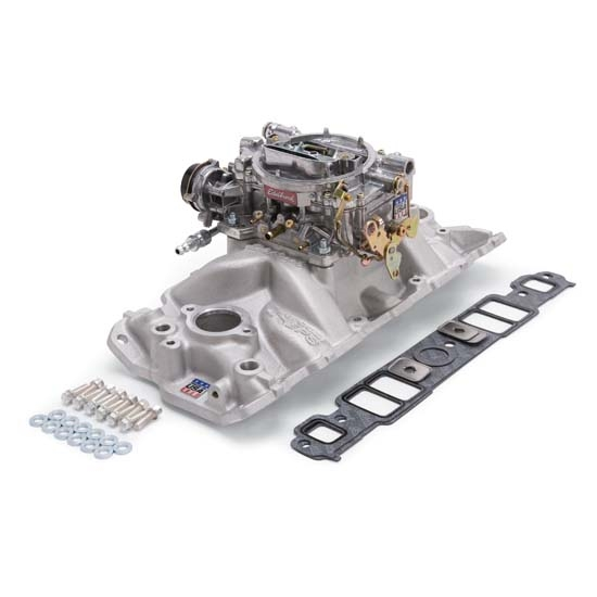 Edelbrock 2021 Single-Quad Intake Manifold/Carburetor Kit