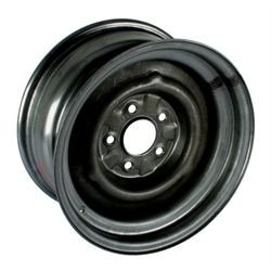 Speedway O/E Style Hot Rod Raw Steel Wheel, 15x7, 5 on 4.75, 4.25 BS