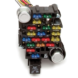 painless wiring 10202 universal 28 circuit 18 fuse chassis harness ebay
