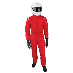 Sparco 001055JUS6XLRS Jade 3-Layer Racing Suit, Red, Size XXXL