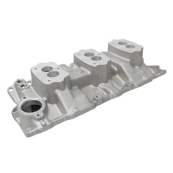 Edelbrock 5418 Small Block Chevy 3x2 3-Bolt Carb Intake