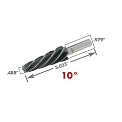 AFCO 80771 Tapered Ball Joint Reamer, 10 Degree