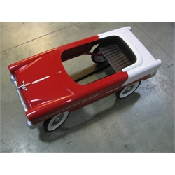 Garage Sale - 1955 Red & Beige Chevy Pedal Car