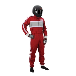 Safety Racing Proban Red One-Piece Suit, Size Small, SFI-1 Certified