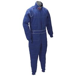 Speedway Proban SFI-5 Double Layer, 1-Piece Fire Suit Blue Small