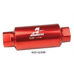 Aeromotive 12301 10 Micron Red High Flow Fuel Filter, ORB-10 Ports
