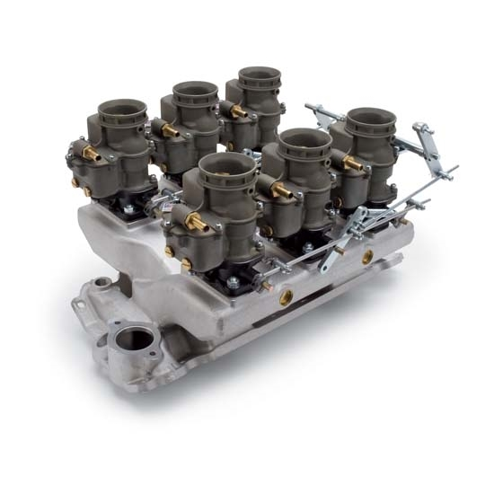 Edelbrock 2018 Vintage Intake Manifold Carburetor Kit