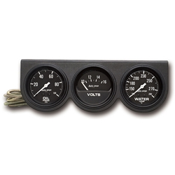 Auto Meter 2398 Auto Gage 3 Gauge Console, Oil/Volt/Water