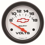 Auto Meter 5891-00406 GM White Air-Core Voltmeter Gauge, 2-5/8 Inch